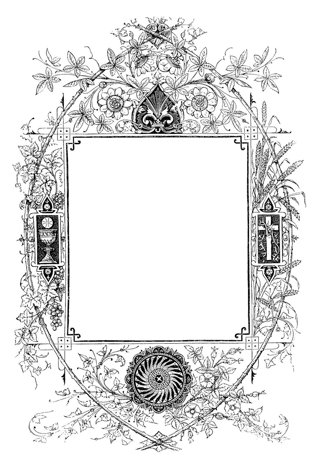 Digital Stamp Design Digital Frame Border Artwork