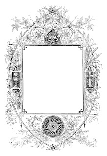 frame border digital design decorative clip art
