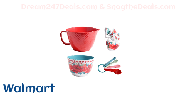 The Pioneer Woman 10-Piece Melamine Batter Bowl Set, Holiday Floral