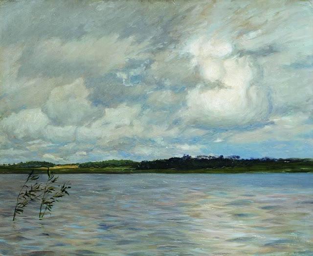 Исаак Ильич Левитан - Озеро. Серый день. 1895