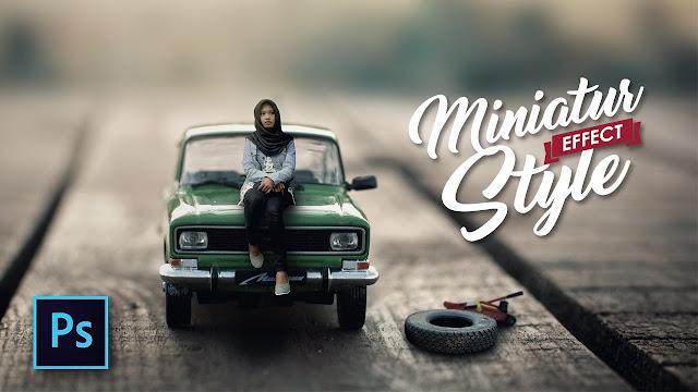 Cara Edit foto Miniatur Style Effect dengan Photoshop - Photoshop Tutorial Indonesia
