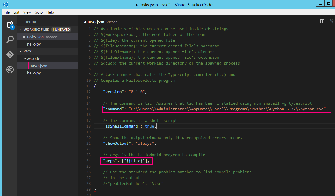 Execute Python code in SublimeText, Notepad++ and Visual Studio Code