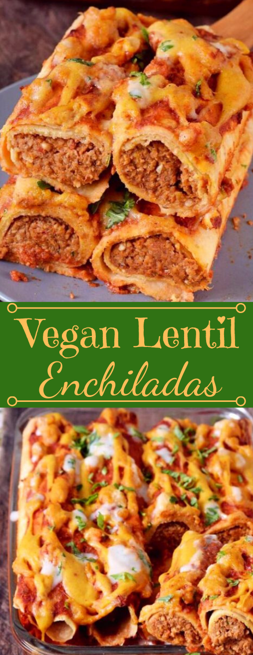 VEGAN ENCHILADAS WITH LENTILS #vegan #lentils #vegetable #food #recipes