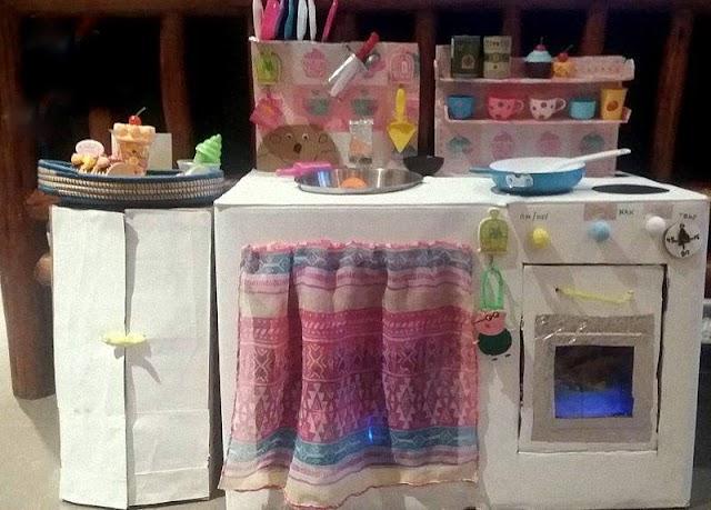 Πως θα φτιάξετε μια παιδική κουζίνα από Χαρτόκουτα