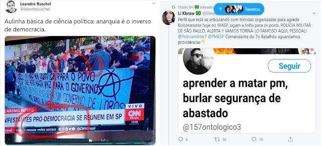 ANARQUISMOS: É a cartada da esquerda para avacalhar de vez o governo de Bolsonaro - STF, CN e imprensa aplaudem