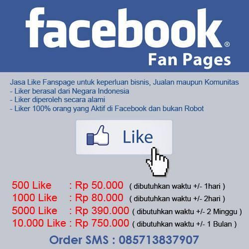Jasa Like Fanspage Murah, Harga Terjangkau