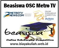 Beasiswa OSC Metro TV 2017/2018 untuk Calon Mahasiswa