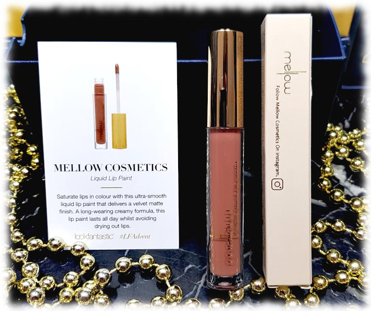 Mellow Cosmetics Liquid Lip Paint tube, box & card