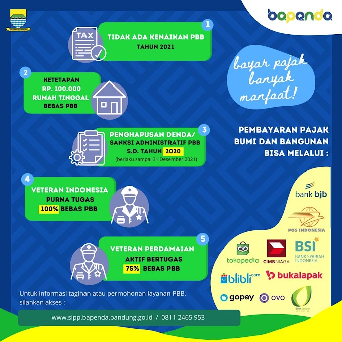 BPPD Kota Bandung Permudah Pembayaran Pajak Bumi dan Bangunan