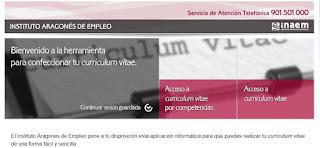 Herramienta Inaem para confeccionar CV on line