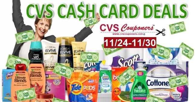 CVS $10 Cash Card Coupon Deals 1124-1130