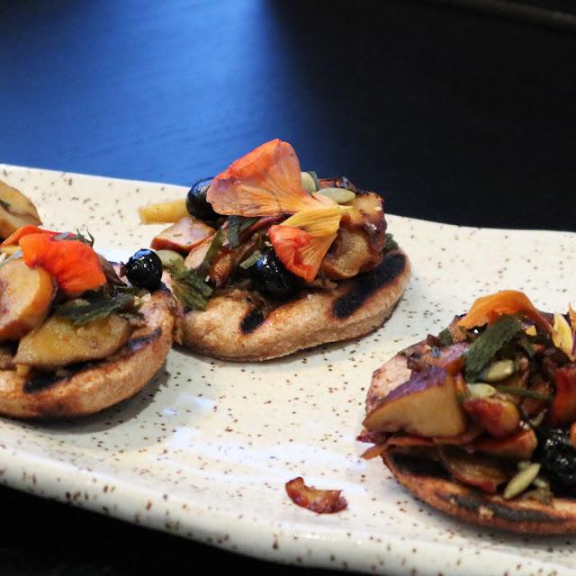 mushroom bannock on a plate