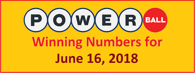 PowerBall Winning Numbers for Saturday, 16 June 2018