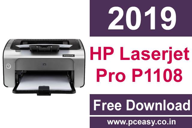 Download HP Laserjet Pro P1108 Printer Driver Free – Latest Version