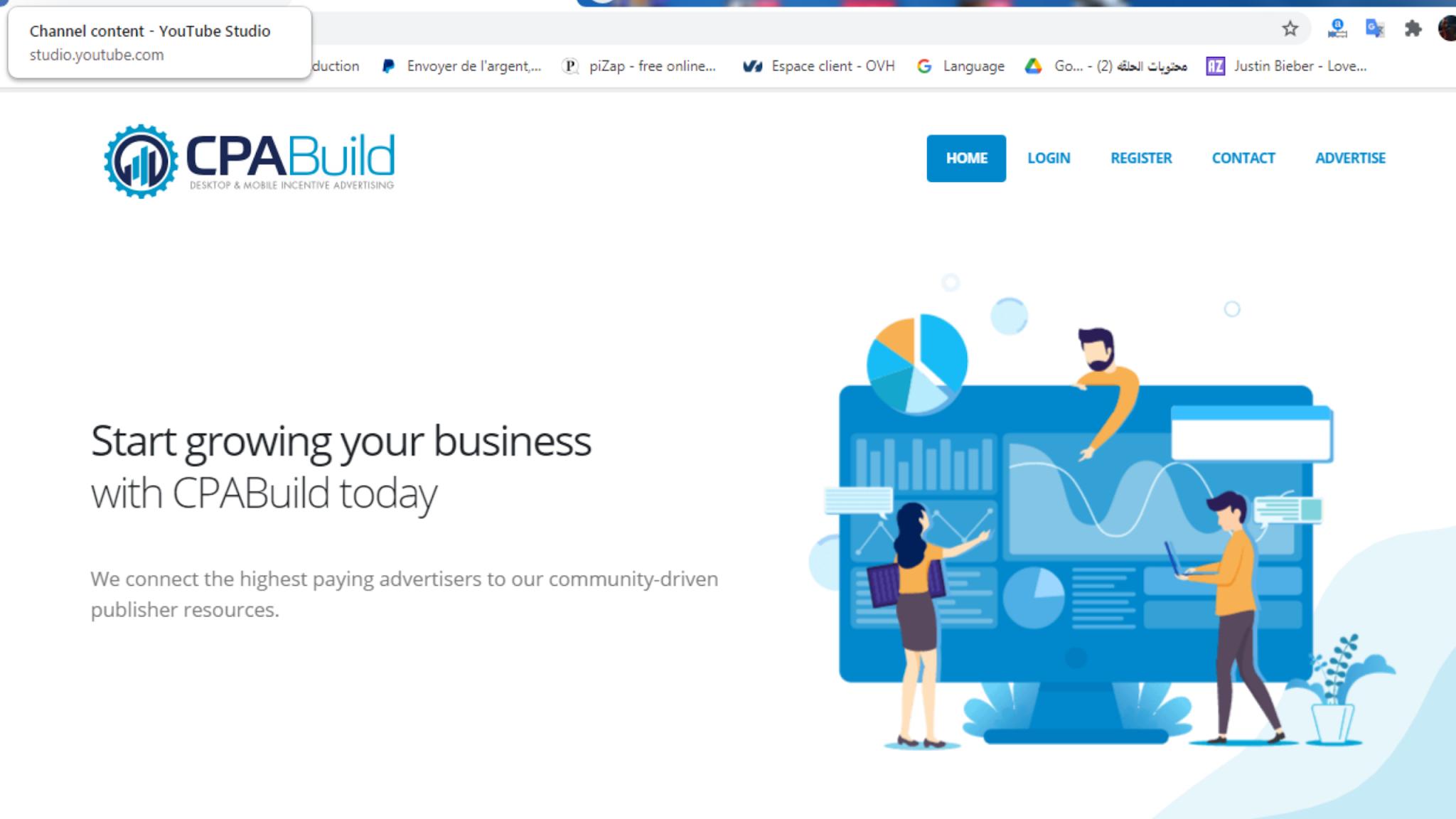 شرح التسجيل في cpabuild | بعد التحديث الجديد | 2021
