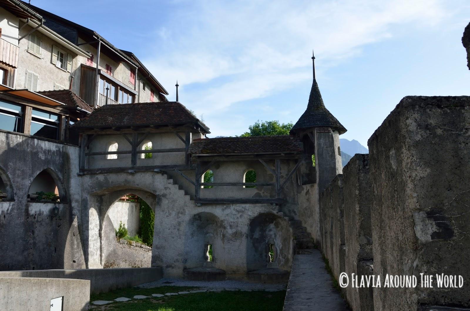 Otra vista de las murallas de Gruyeres