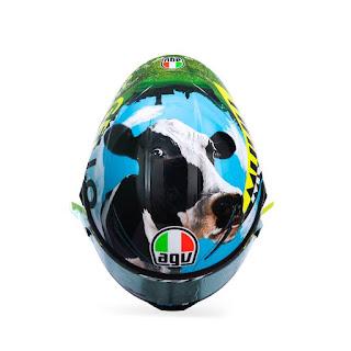 Desain Grafis Helm Valentino Rossi Di Mugello Italia 2021: Mooo Jadi Sapi, Siap Jadi Inspirasi??