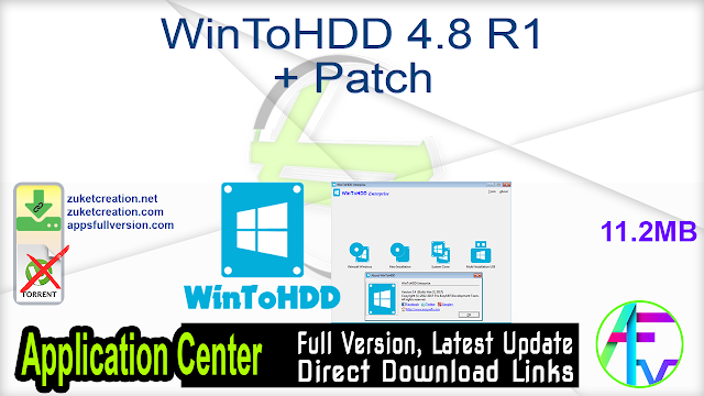 WinToHDD 4.8 R1 + Patch