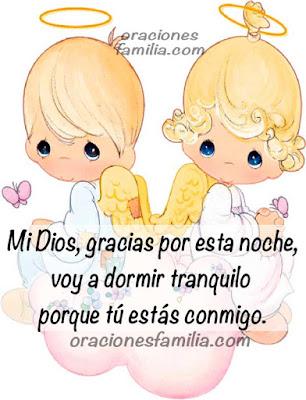 angelitos imagen de oracion para niños en la noche