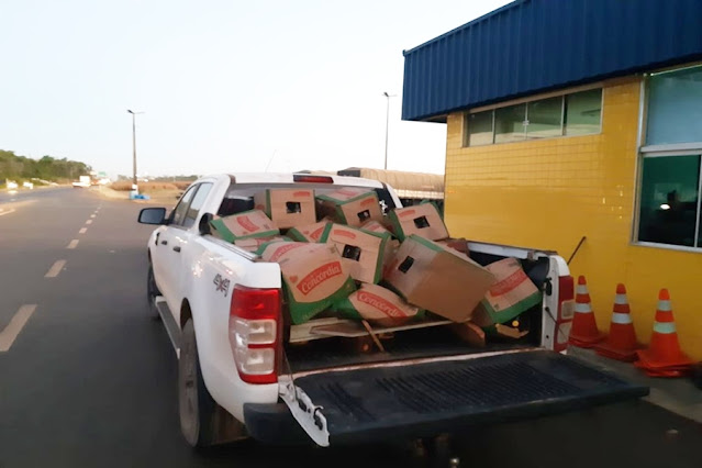 Quatro homens são detidos com carga de óleo saqueada de caminhão tombado entre RO e MT