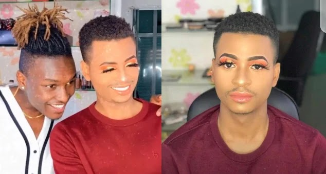 Male Switch TV Presenter leaves tongues wagging as he steps out in full makeup (Photos)