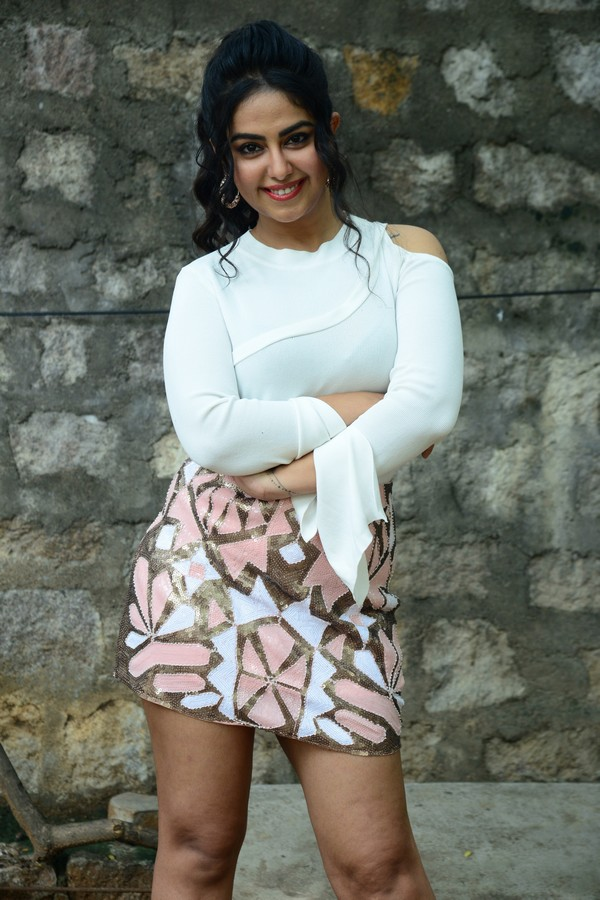 Avika Gaur Stunning Cute actress in Short Mini Skirt and White Top