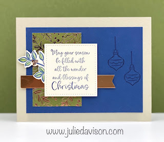 Stampin' Up! Dove of Hope: Christmas Blessings Card ~ Aug-Dec 2020 Mini Catalog ~ www.juliedavison.com #stampinup