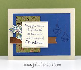 Stampin' Up! Dove of Hope: Christmas Blessings Card ~ Aug-Dec 2020 Mini Catalog ~ www.juliedavison.com #stampinup