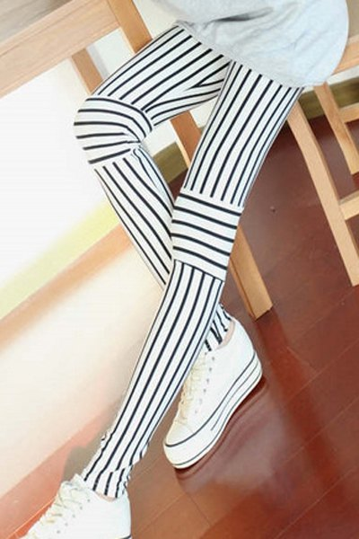 Knee stripes leggings