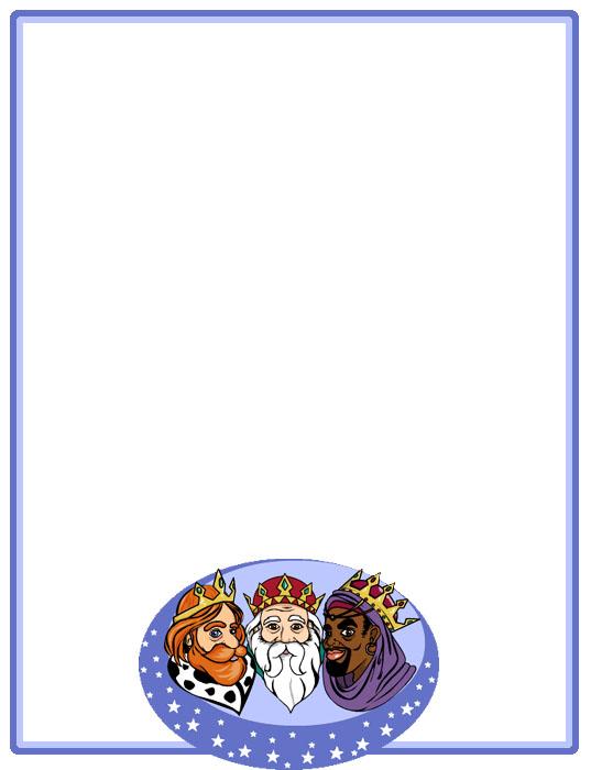Bordes Decorativos Bordes decorativos de Carta a los Reyes Magos