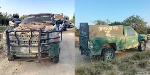 FOTOS: Sicarios de Las Tropas del Infierno con Camioneta laminada Y blindaje artesanal bien envalentonados con civiles y huyendo a Estatales