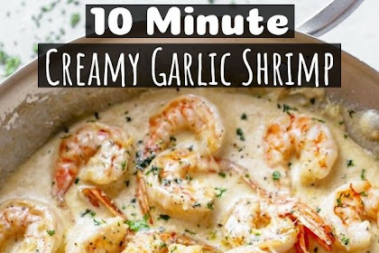 10 Minutes Creamy Garlic Shrimp With Parmesan