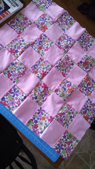 Flannel four patch quilt