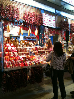 An entire paprika stall