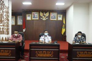 Pemprov Lampung Ikuti Rakor Penanganan Covid-19 Secara Daring