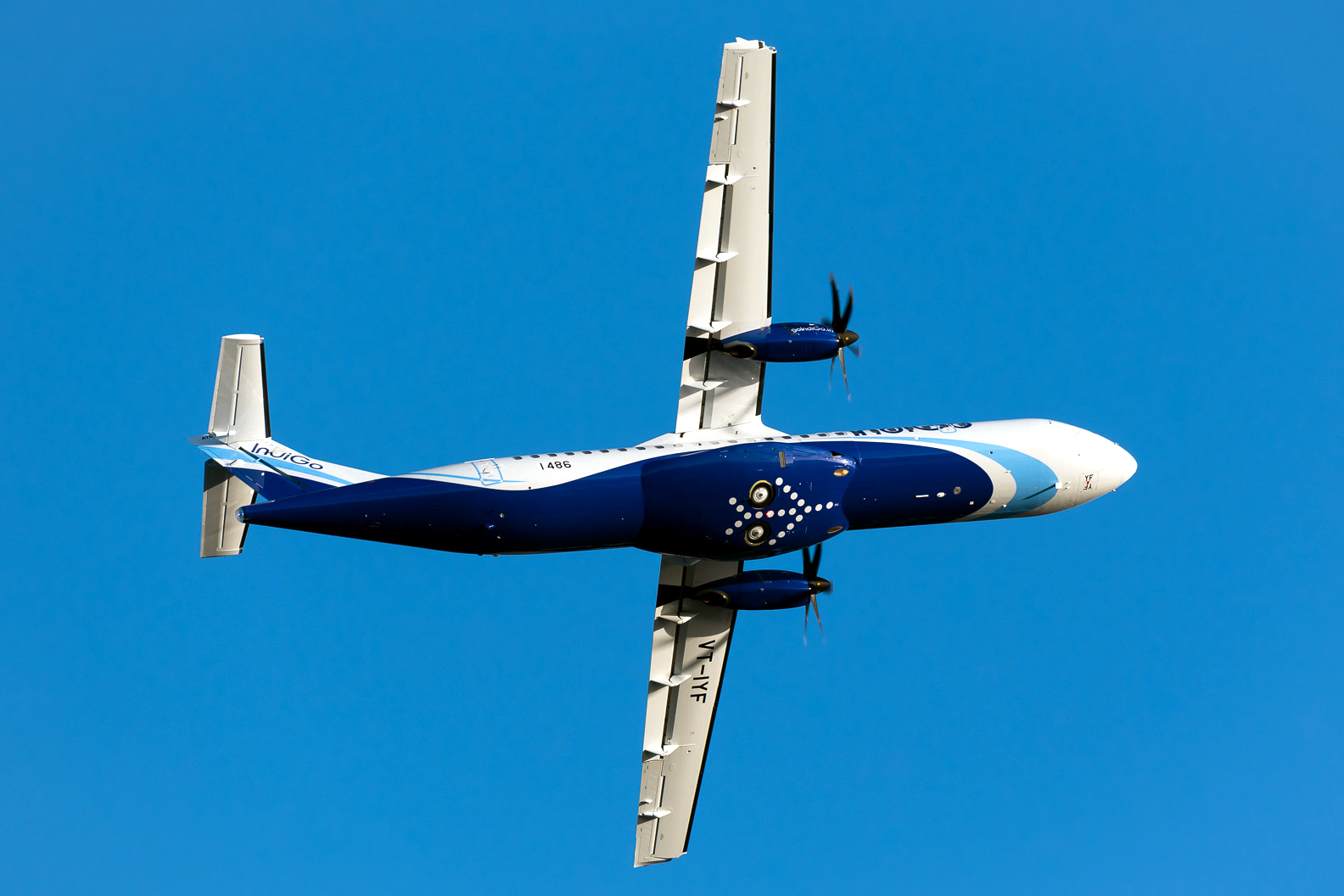 IndiGo ATR 72-600 View From Beneath, Extreme Rolling