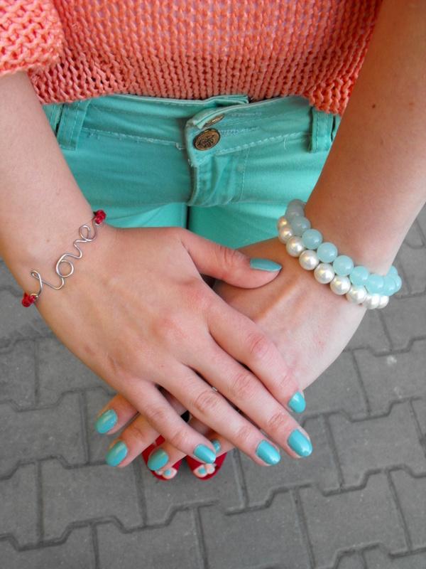 pastelowy look