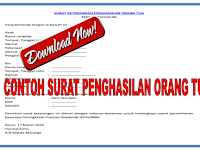 Contoh surat keterangan penghasilan orang tua untuk mendapatkan beasiswa