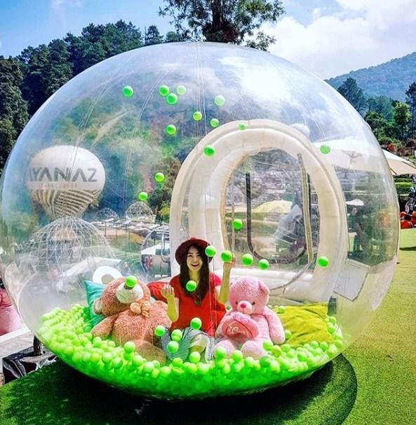 spot foto bubble tent ayanaz