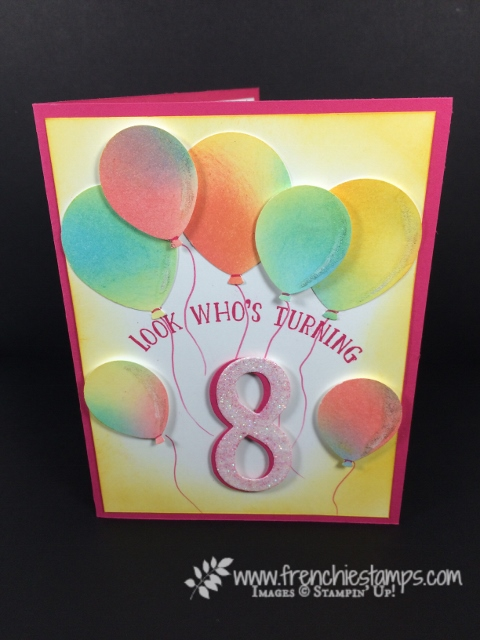 Number of Years, Big on Birthday, Happiest of Days, Large Number Framelits, Balloon Banquet Punch, Stampin'Up!