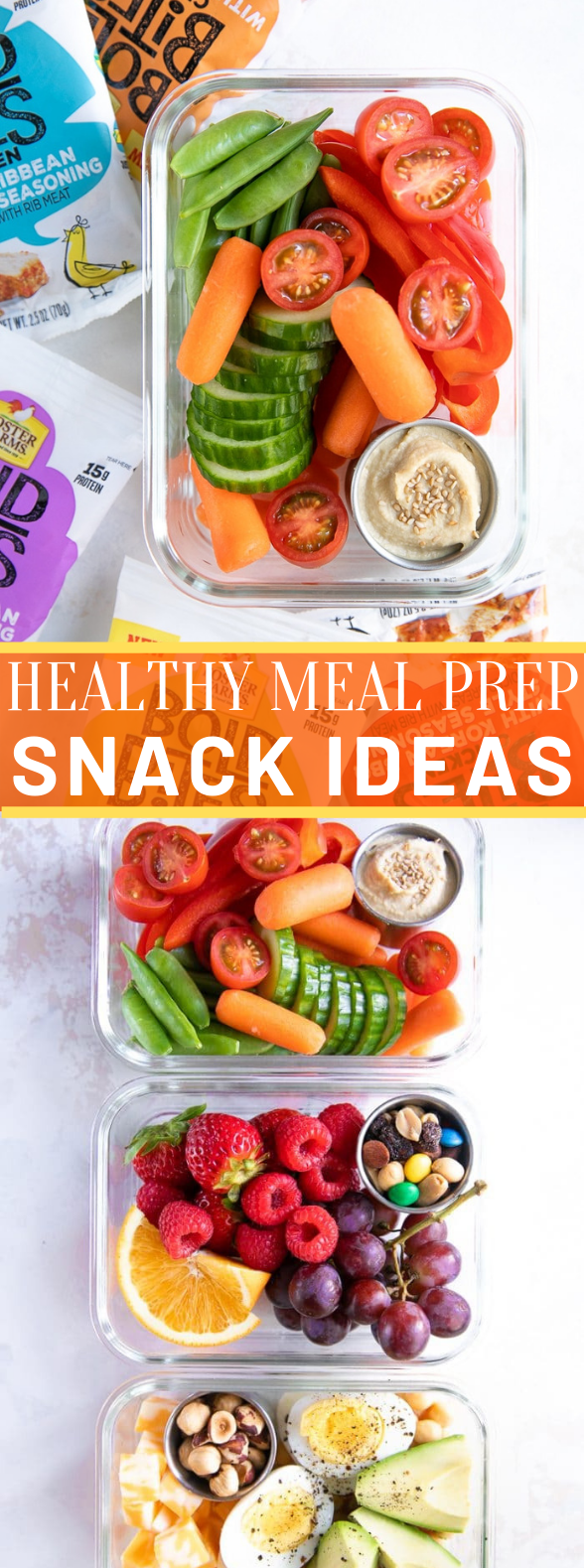 Healthy On-the-Go Meal Prep Snack Ideas #healthysnack #school