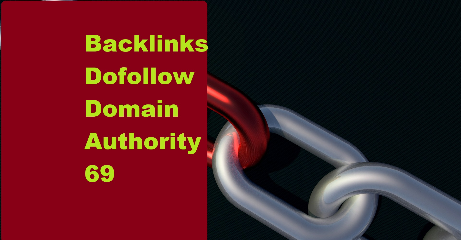 Backlinks Dofollow Domain Authority 69