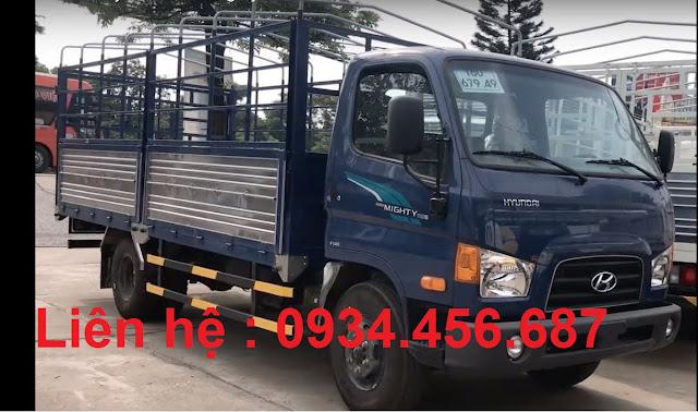 Giá lăn bánh Hyundai 110SP thùng bạt, thùng kín