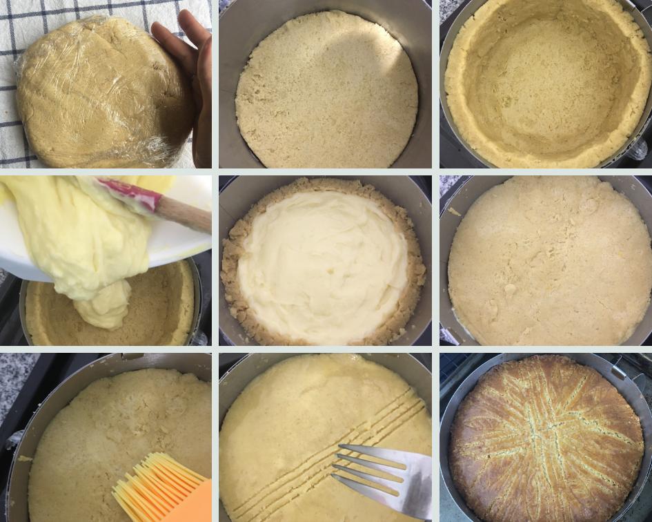 Preparación pastel vasco o gateau basque
