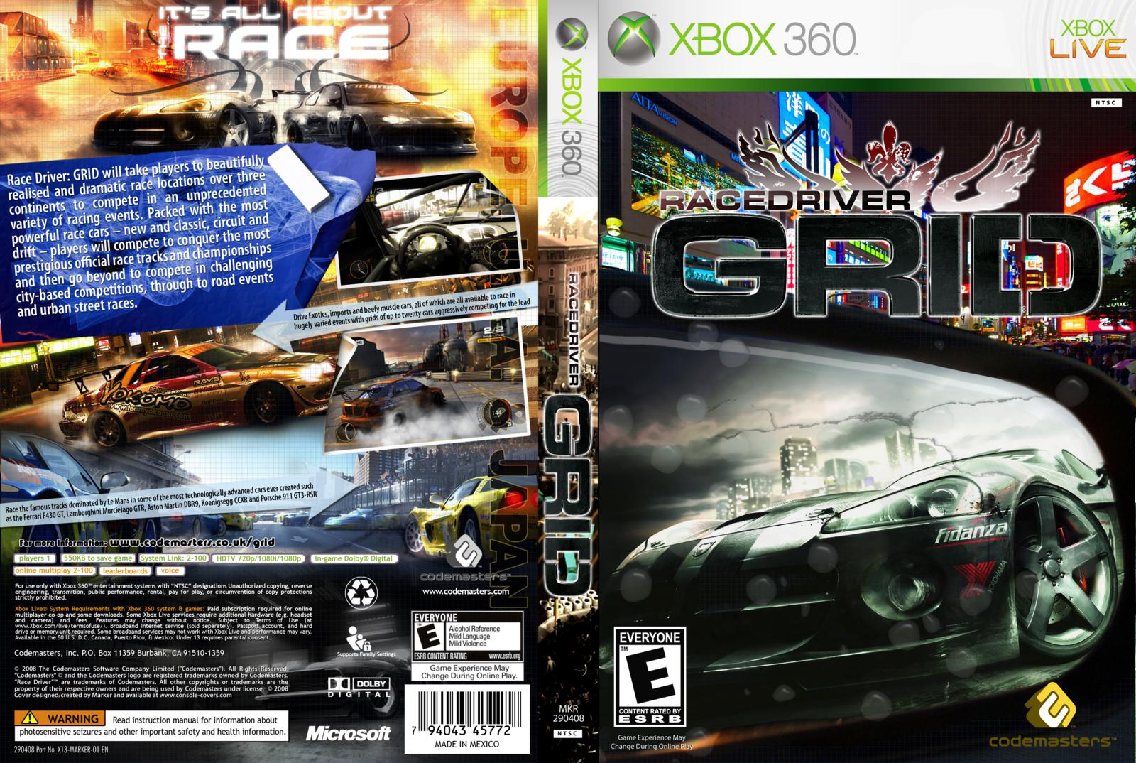 All race driver: grid screenshots for playstation 3.
