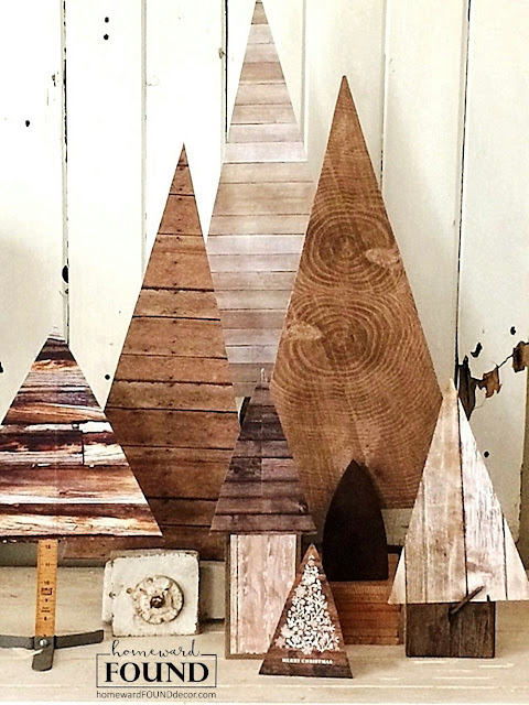 faux wood, wood-look, junk trees, junking, diy, handmade, crafts, home decor, Christmas