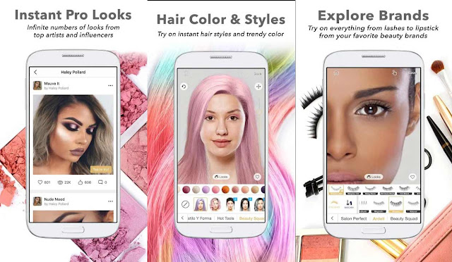 10 Best Hair Styling Apps with makeup tools