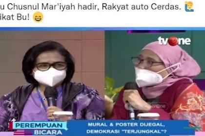 """Mantab! Politikus Nasdem Kena """"Sikat"""" Bu Chusnul Mar'iyah"""
