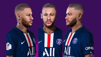 PES 2020 Faces Neymar Jr [ Bald ] by Valentinlgs10