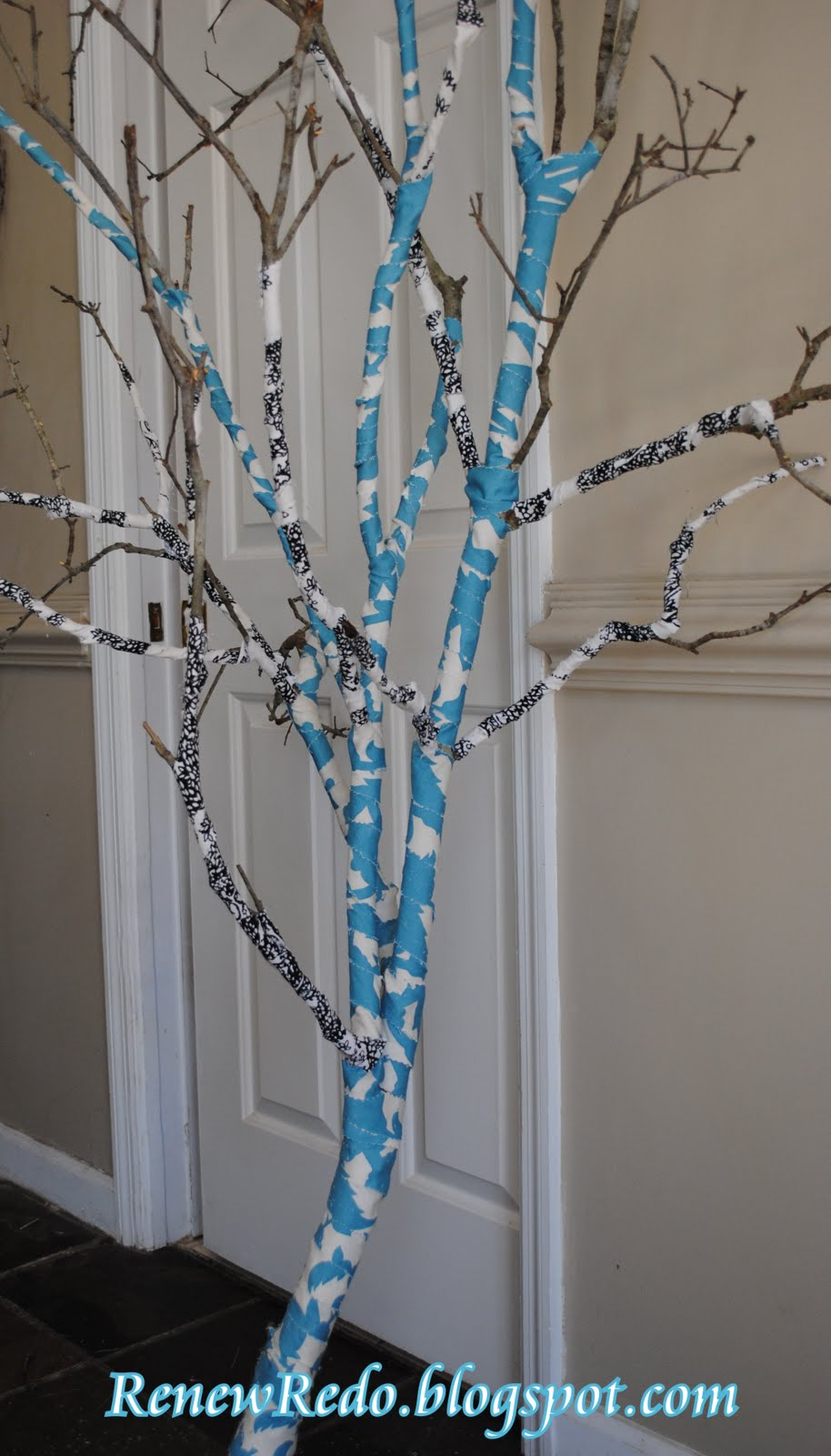 Renew Redo Fabric Covered Tree Branch